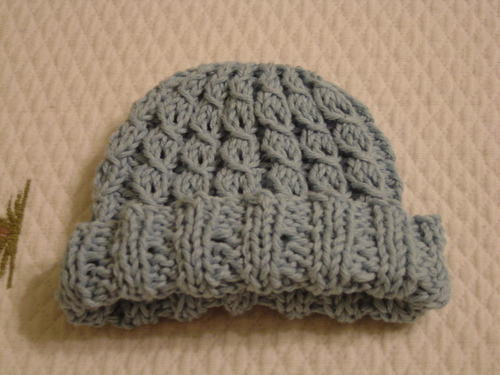 Finished Objects  Mock-Cable Baby Hat f79bbb3b914